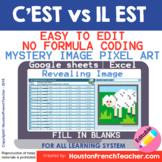 Digital French Pixel Art - C'EST vs IL EST- Mystery Magic