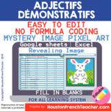 Digital French Pixel Art - Ce, Cet, Cette, Ces - Demonstra