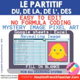 Digital French Pixel Art - Du, De La, Des, De L' - Le Part