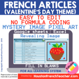 Digital French Pixel Art - French Articles (definite/Indef
