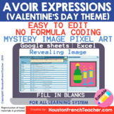 Digital French Pixel Art - French Avoir Expressions Myster