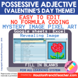 Digital French Pixel Art - French Possessive Adjectives |