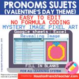 Digital French Pixel Art - French Subject Pronouns Mystery
