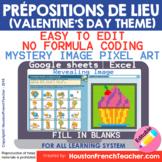 Digital French Pixel Art - Les prépositions de lieu | Myst