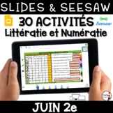 Digital French Seesaw French Google Classroom distance lea