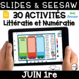 Digital French Seesaw Google Slides activities - Distance