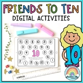 Digital Friends of 10 - Paperless Addition and Subtraction activities