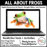 Digital Frog Activities - Boom, Seesaw, & Google Slides -