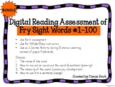 Digital Fry Sight Word Assessment #1-100 (PPT) for Distanc