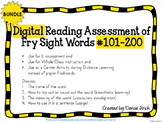 Digital Fry Sight Word Assessment #101-200 (PPT) for Dista