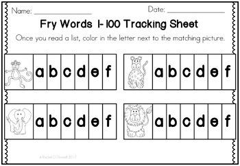 Digital Fry Words 1-100 One Breath Boxes