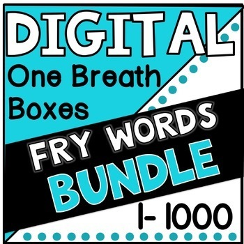 Digital Fry Words 1-1000 One Breath Boxes BUNDLE