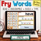 Digital Fry Words 1-200 --- Fry Word Building Mats for Goo
