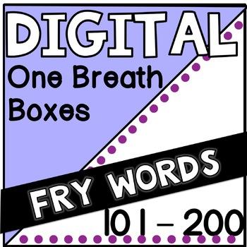 Digital Fry Words 101-200 One Breath Boxes