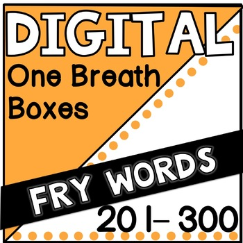 Digital Fry Words 201-300 One Breath Boxes