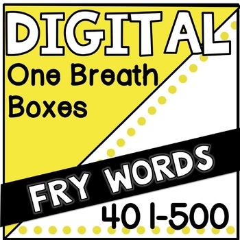 Digital Fry Words 401-500 One Breath Boxes