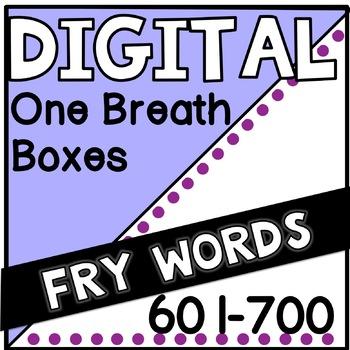 Digital Fry Words 601-700 One Breath Boxes
