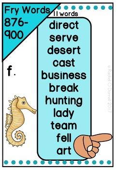 Digital Fry Words 801-900 One Breath Boxes