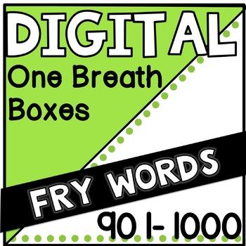 Digital Fry Words 901-1000 One Breath Boxes