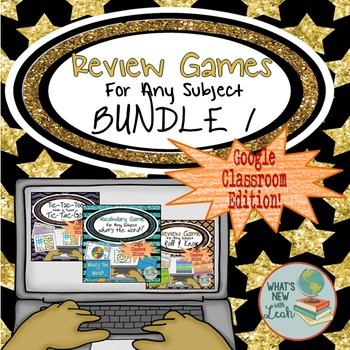 Digital Games for Google Classroom and OneDrive Bundle 1