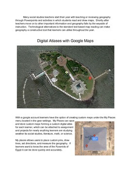 Digital Geography Atlas with Google Maps