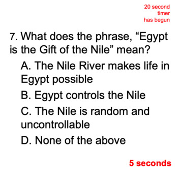 Digital Geography of Ancient Egypt Semester Review Game, Powerpoint