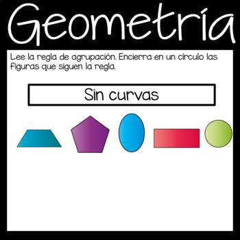 Digital Geometry Google Slide Game in *Spanish*