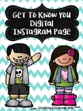 Digital Get to Know You Instagram Page