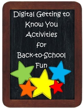 Digital Getting to Know You Activities for Back to School Fun