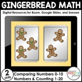 Digital Gingerbread Math: Counting & Comparing Numbers - S