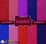 Digital Glitter Paper Scrapbooking Set