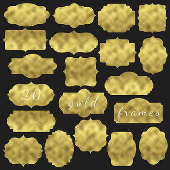 Digital Gold Labels For Scrapbooking {Pretty Graphics}