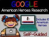 Google Classroom Digital American Heroes Biography Researc