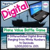 Digital Google App Place Value Battle Whole Number and Decimals