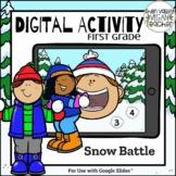 Digital Google Classroom Activity WINTER First Grade 50 In
