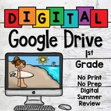 Digital Google Drive Summer Review Packet for First Grade