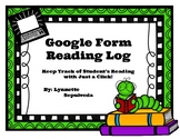 Digital Google Form Reading Log