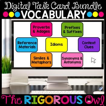 Distance Learning Digital Google Form Task Card Bundle for Vocabulary