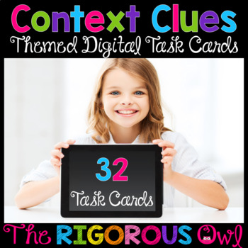 Digital Google Forms Context Clues Task Cards