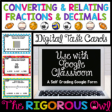 Distance Learning Digital Google Converting and Relating Fractions and Decimals