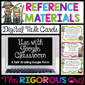 Digital Google Forms Reference Materials Task Cards