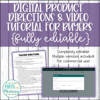 Digital Google™ Product Directions & Video Tutorial for Buyers - Commercial Use