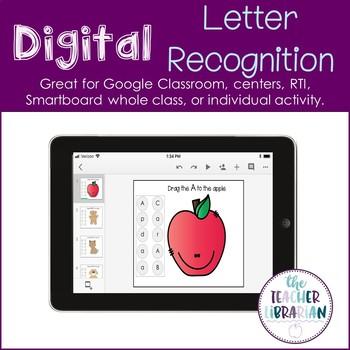Digital Google Slide Letter Recognition