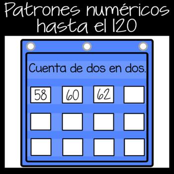 Digital Google Slides Game Patterns to 120 in *Spanish*
