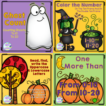 Digital Google Slides Math And ELA Halloween Center Activities