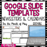 Digital Google Slides Newsletter Templates- May