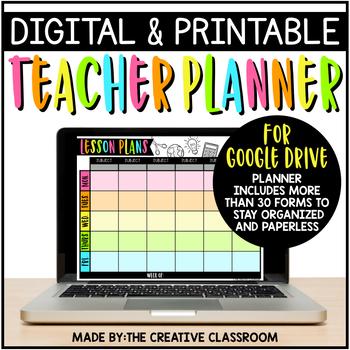 Digital Teacher Planner {Google Drive}