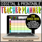 Digital & Printable Teacher Planner {Google Drive}