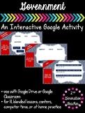 Digital Government Google Drive or Google Classroom Activity