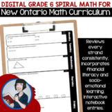 Digital Grade 6 Spiral Math (New Ontario Math Curriculum 2020)